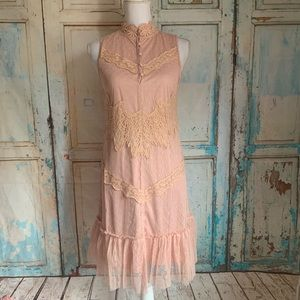 A'reve Pink lace tulle dress